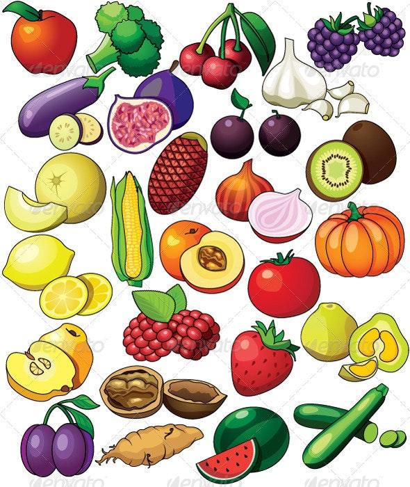 Alphabetic fruits set - Nature Conceptual