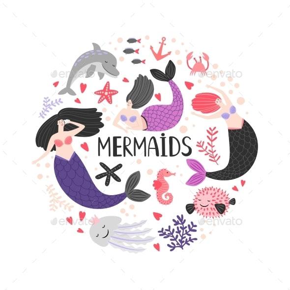 Mermaida and Ocean Animals - Animals Characters