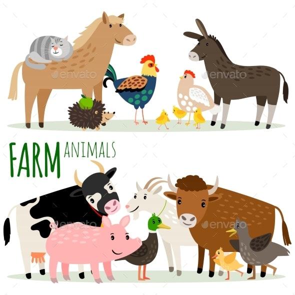 Farm Animals Cartoon Characters - Animals Characters