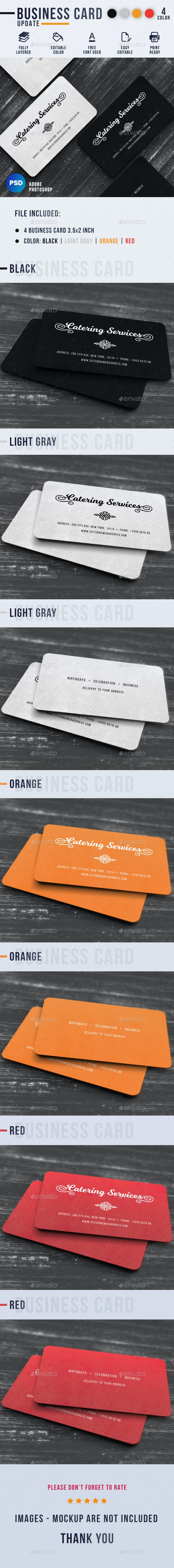 Catering Services Business Card - Industry Specific Business Cards