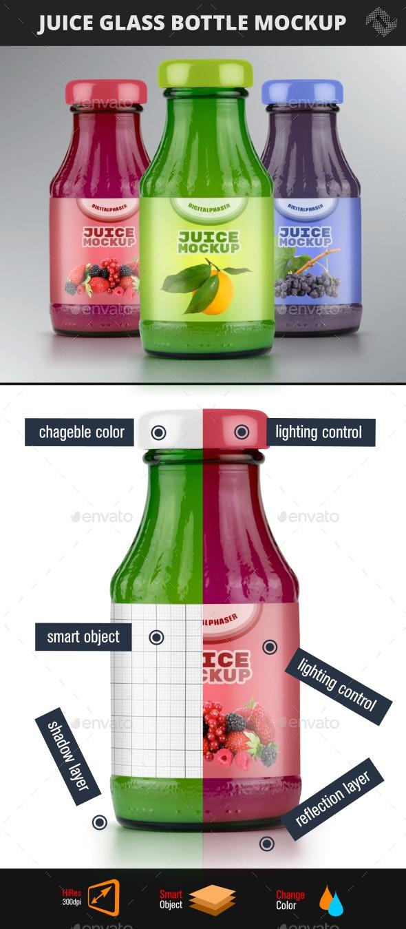 Juice Glass Bottle Mockup - Food and Drink Packaging
