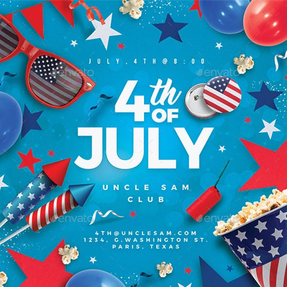 4th Of July Usa Flyer Party