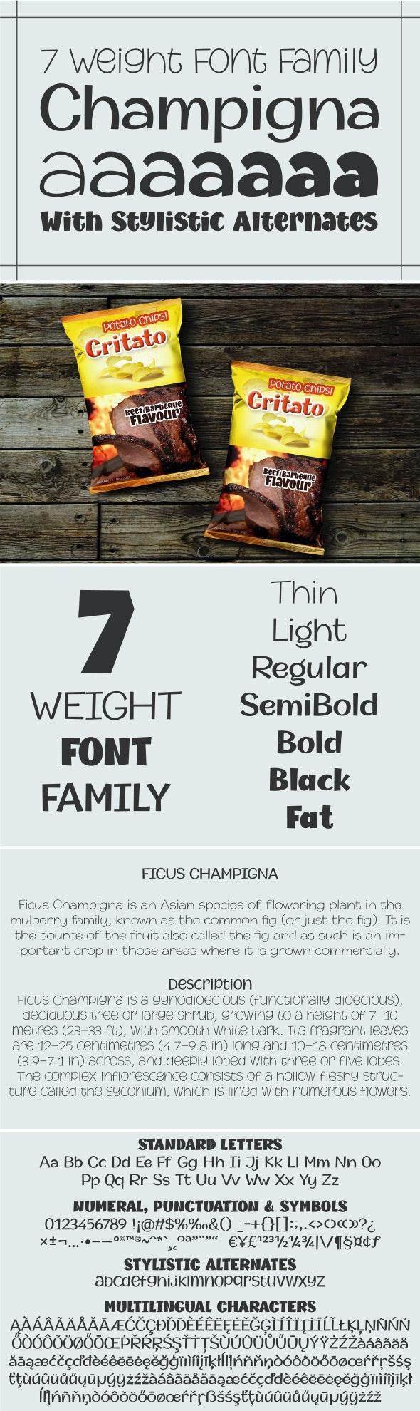 Champigna Comic Family - Comic Decorative