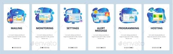 Mobile App Onboarding Screens Digital Marketing - Web Technology