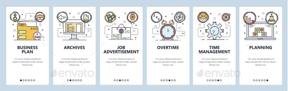 Mobile App Onboarding Screens Business Plan Job - Concepts Business