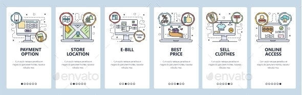 Mobile App Onboarding Screens Online Shopping - Concepts Business