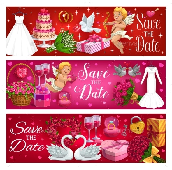 Wedding Symbols Save the Date and Marriage Cards - Weddings Seasons/Holidays