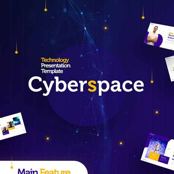 Cyberspace Technology PowerPoint Template