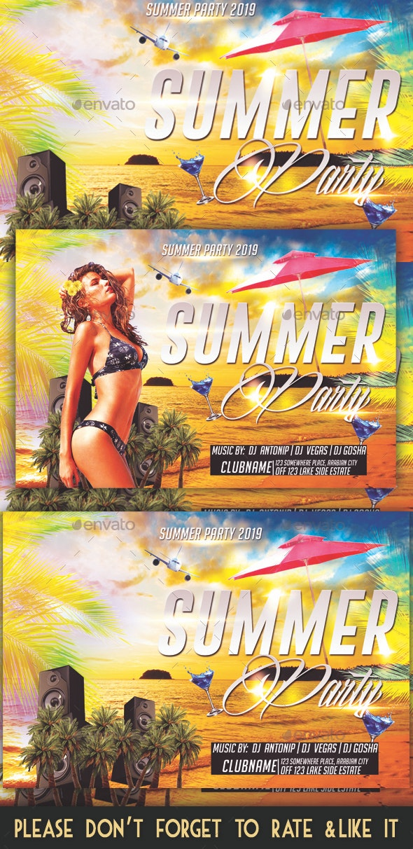Summer Party - Flyers Print
