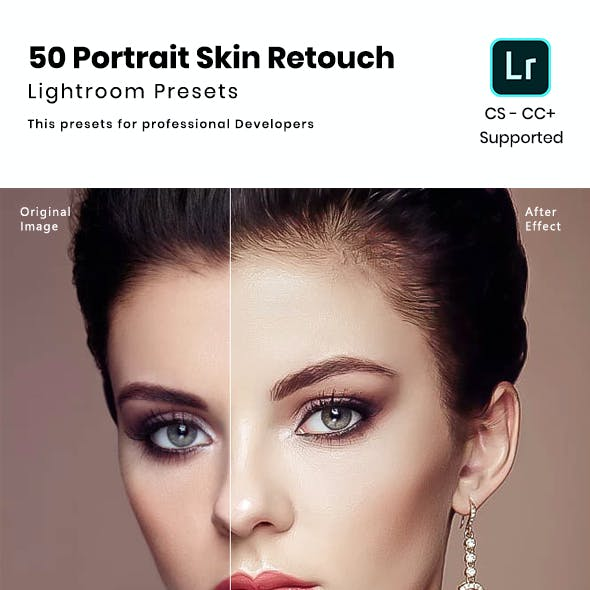 50 Portrait Skin Retouch Lightroom Presets