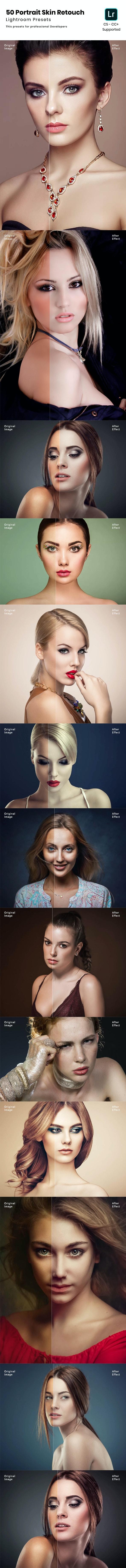 50 Portrait Skin Retouch Lightroom Presets - Portrait Lightroom Presets