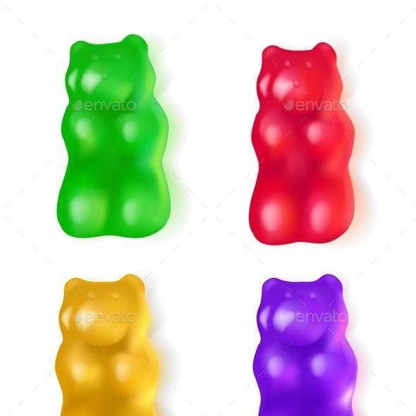 Realistic Jelly Bears Candy