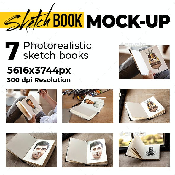 Sketch Book Photorealistic Mock-up