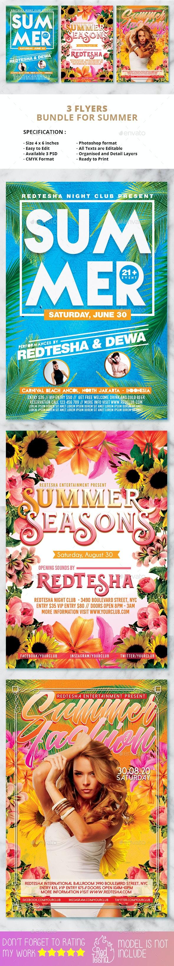 Summer Flyers Bundle - Events Flyers