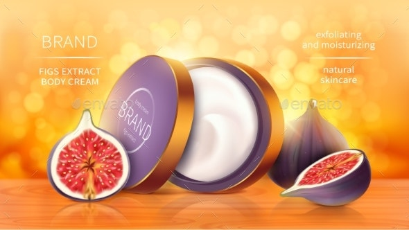 Tropical Figs Cosmetics Realistic Vector - Health/Medicine Conceptual