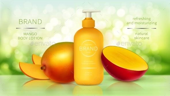 Tropic Mango Cosmetics Realistic Vector - Health/Medicine Conceptual