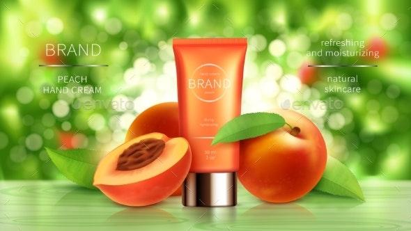 Peach or Apricot Cosmetics Realistic Vector - Health/Medicine Conceptual