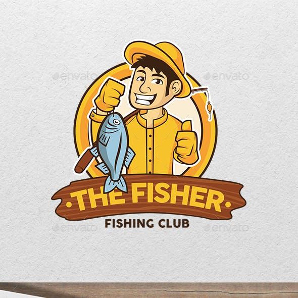 The Fisherman - Fishing Character Mascot Logo