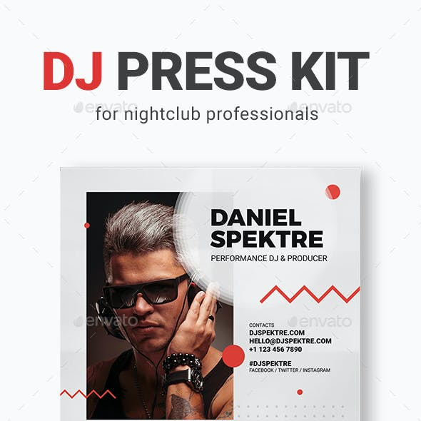 Spektre - DJ Press Kit / DJ Resume / DJ Rider PSD Template