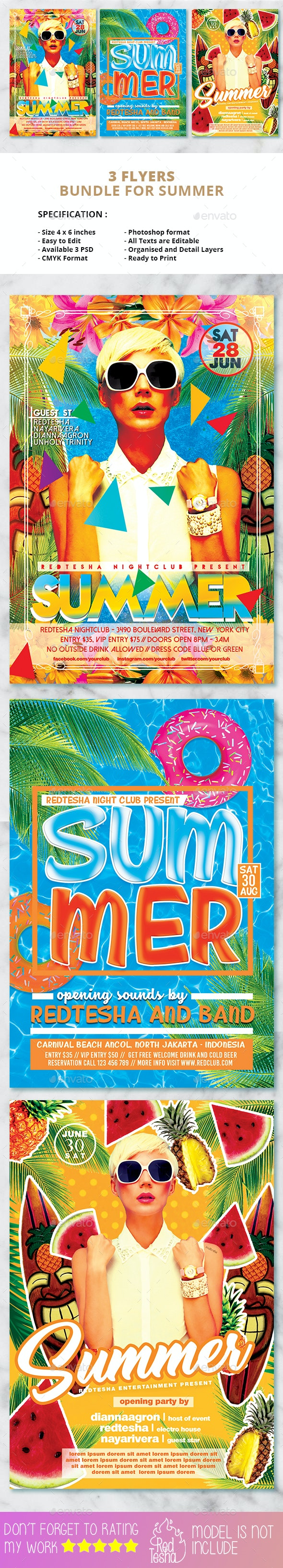 Summer Flyers Bundle - Events Flyers