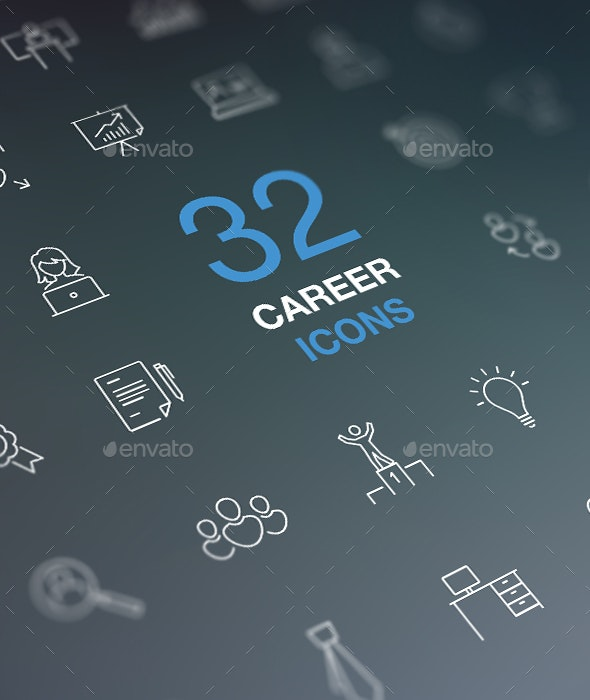 Job Search, Work, Career, Success Concept. - Business Icons