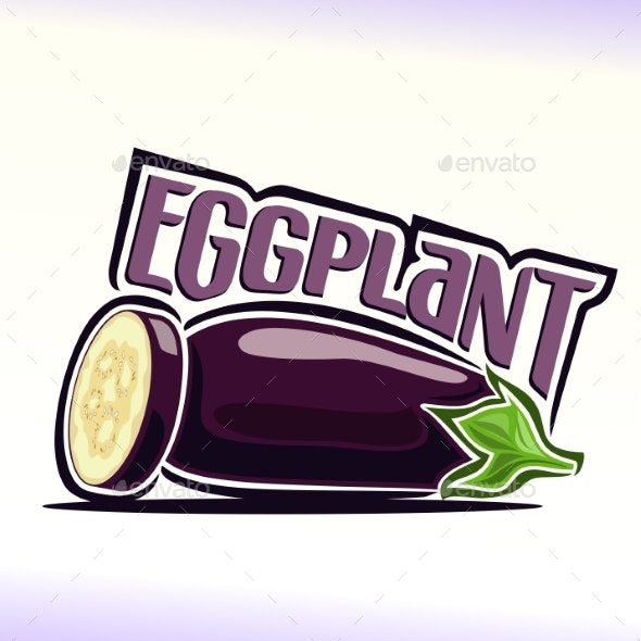 Vector Eggplant - Food Objects