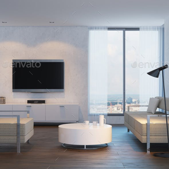 Modern Interior Design of Living Room