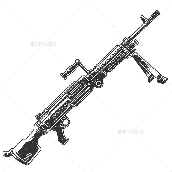 Semi-Automatic Rifle - Man-made Objects Objects