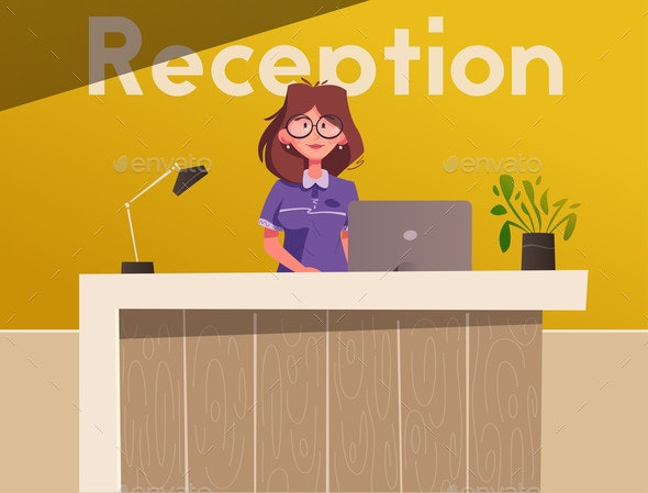 Reception Desk - People Characters