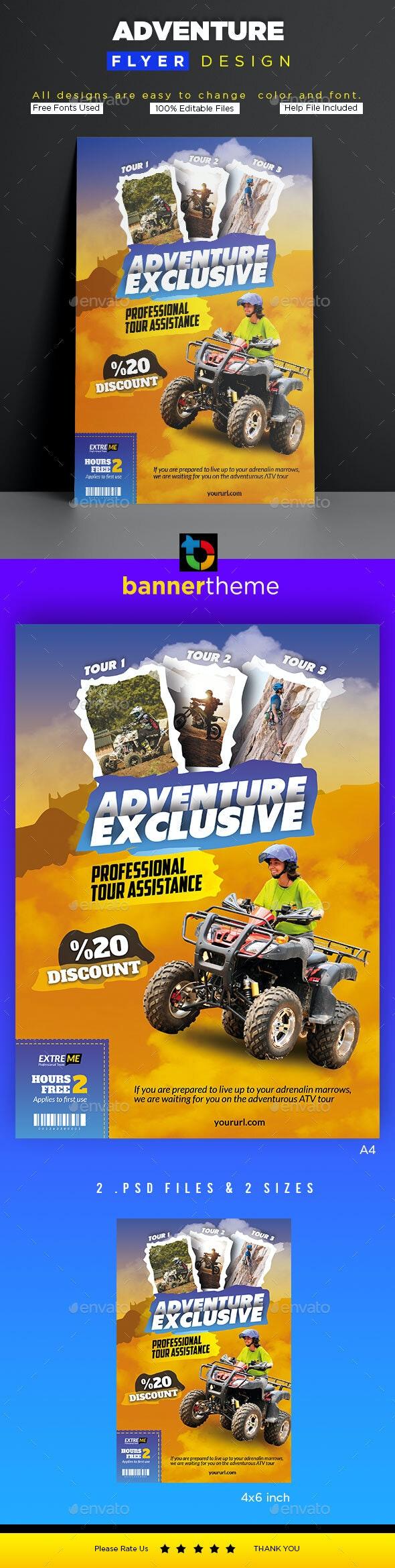 Adventure Flyer - Flyers Print Templates