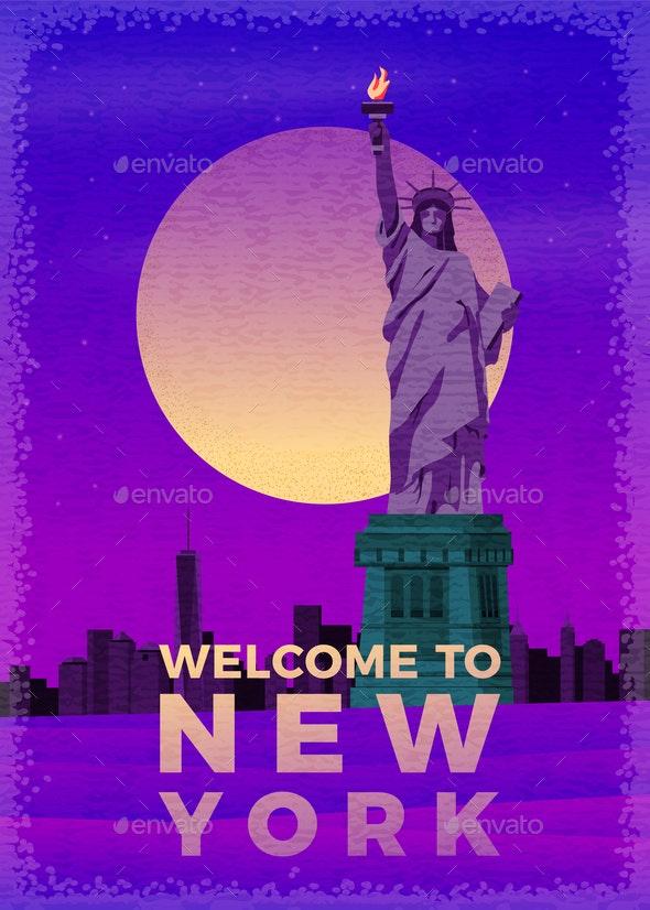 Vector New York Poster - Travel Conceptual