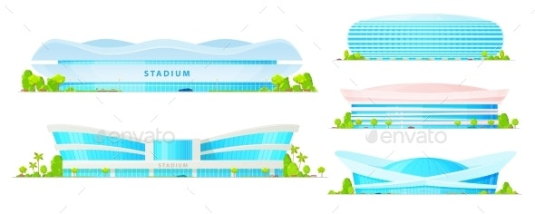 Stadium Buildings and Sport Arena Constructions - Buildings Objects