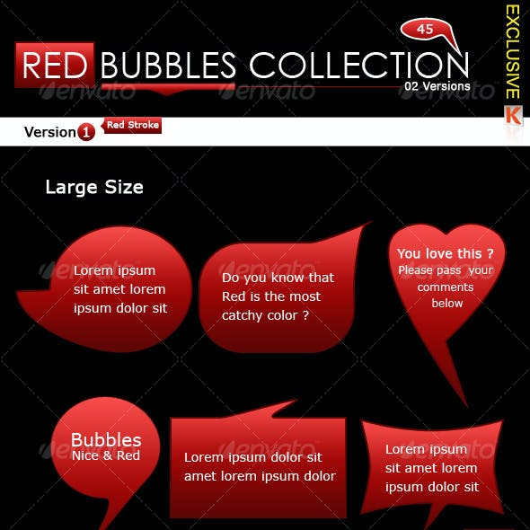 Red Bubbles Collection (02 Versions)