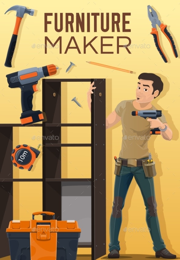 Home Furniture Assembly Making and Installation - People Characters