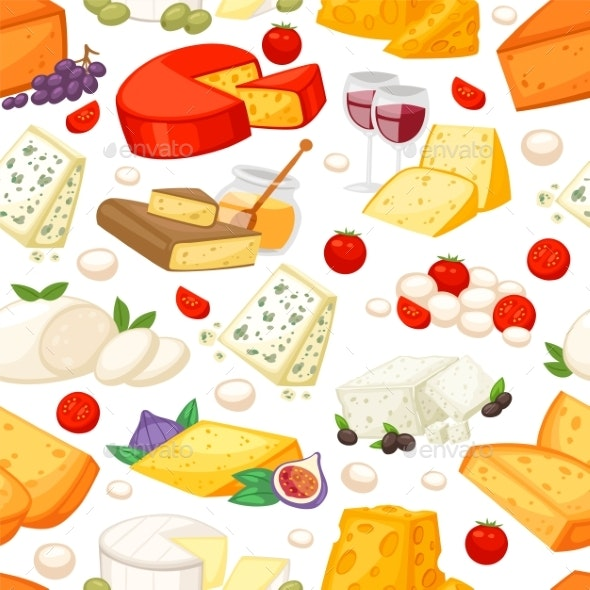 Cheeses Realistic Composition with Edam Maasdam - Food Objects