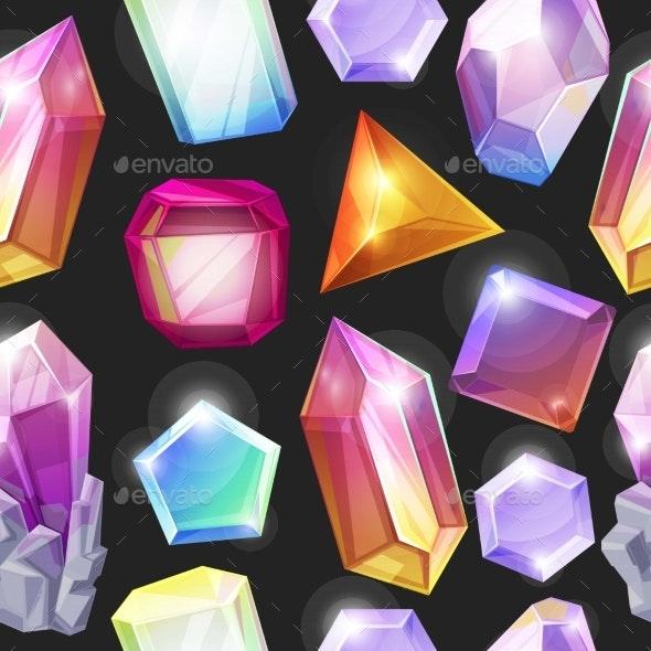 Crystal Background Seamless Pattern Vector - Backgrounds Decorative