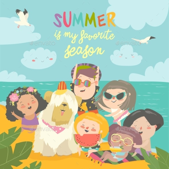 Summer Travel - People Characters