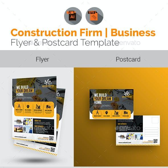 Construction Flyer & Postcard Bundle