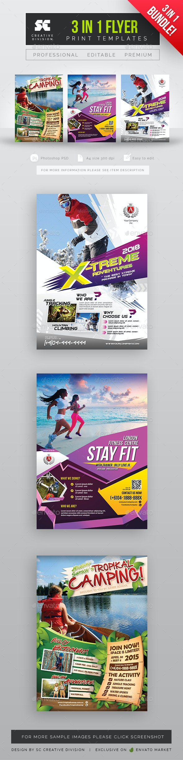 Sports Flyer Bundle 3 In 1 - Sports Events