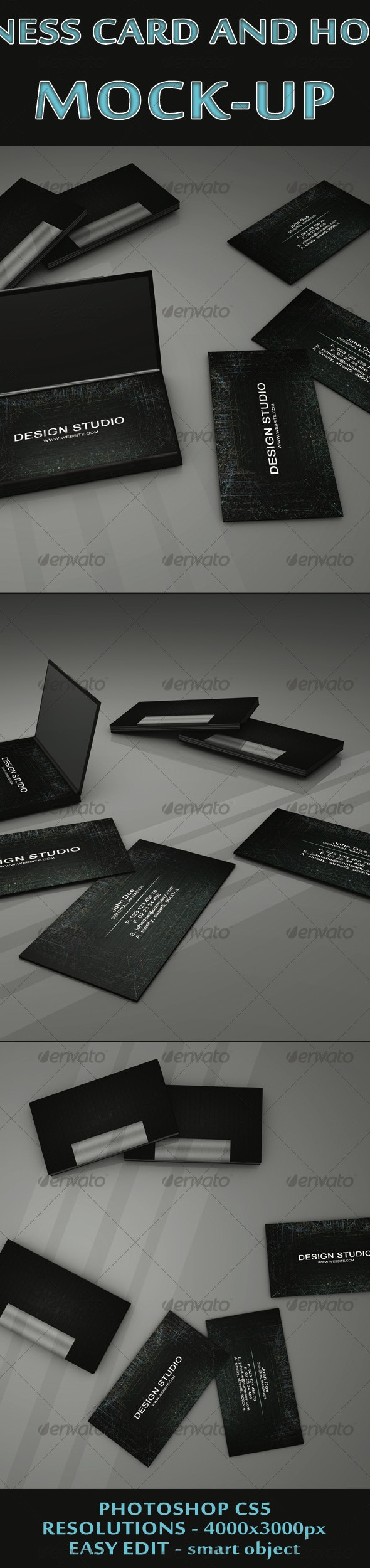 Business Card and holder mock-ups - Business Cards Print
