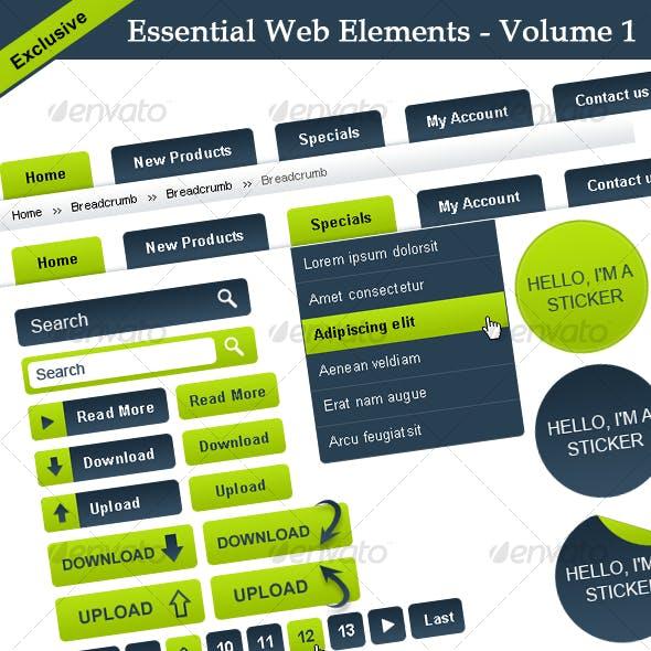 Essential Web Elements - Volume 1