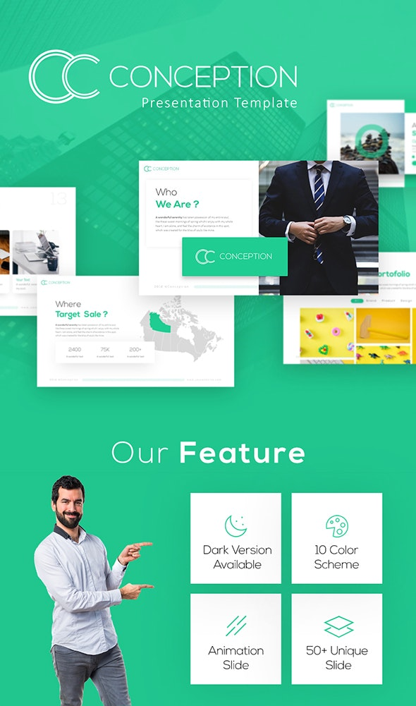 Conception  - Business Keynote Template - Keynote Templates Presentation Templates