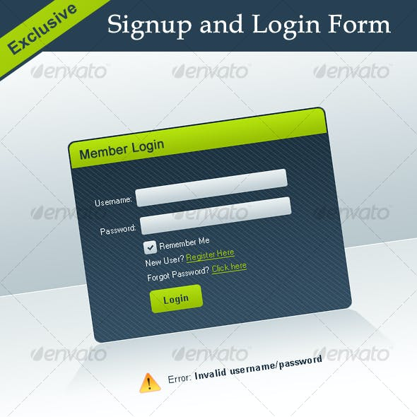 Exclusive Signup and Login Forms