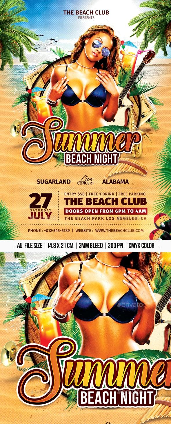Summer Beach Night - Clubs & Parties Events