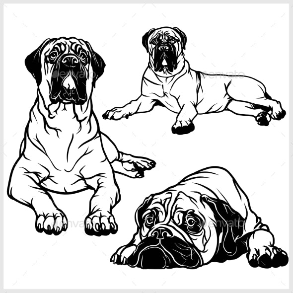 Bullmastiff Set - Animals Characters