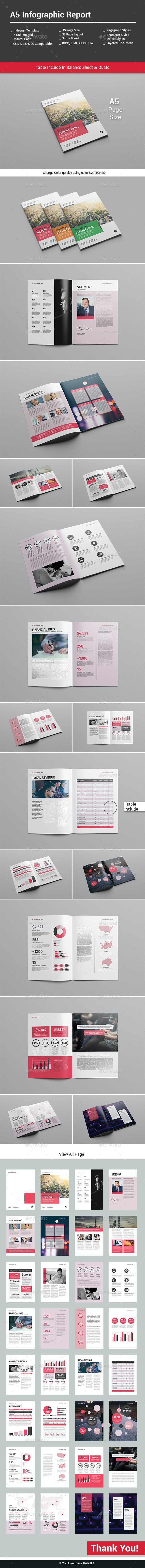 A5 Infographic Report - Informational Brochures