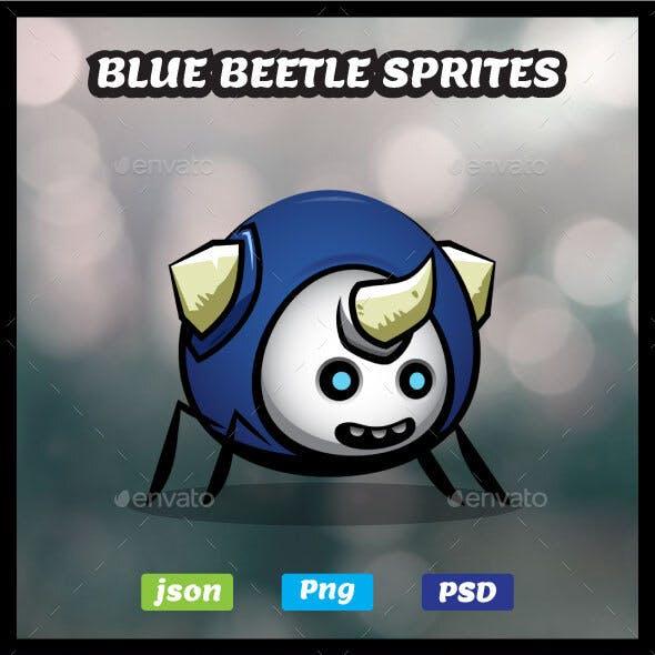 Blue Beetle Game Asset | Little Bug Sprites