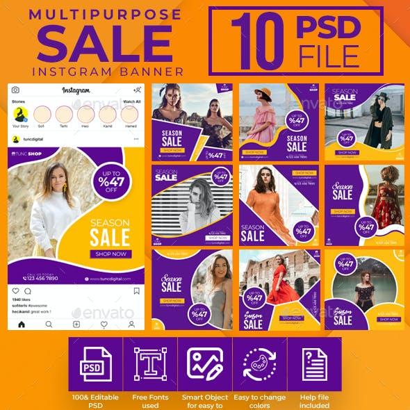 Multipurpose Sale Instagram Banners