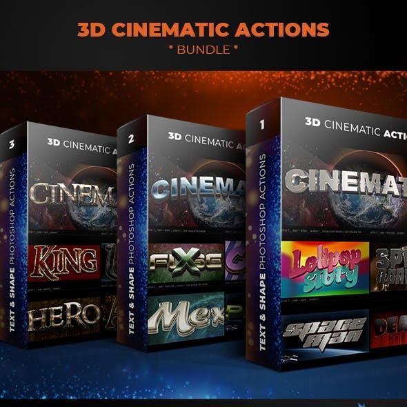 3D Cinematic Actions - Bundle
