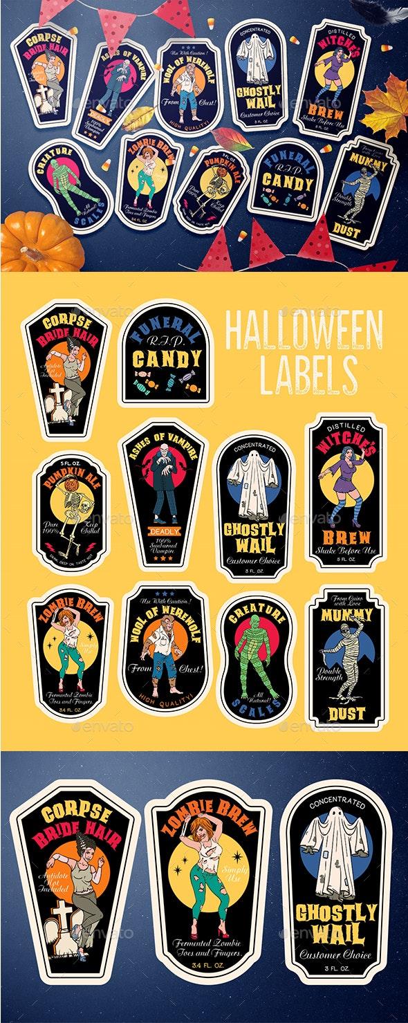 Poisons Bottle of Halloween - Halloween Seasons/Holidays